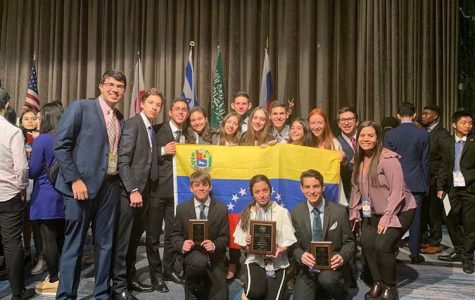 Students from Colegio Moral y Luces Herzl-Bialik in Venezuela attend the National High School Model UN (NHSMUN) conference at the New York Hilton Midtown.