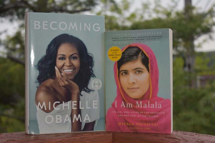 Becoming by Michelle Obama and I Am Malala: The Girl Who Stood Up for Education and Was Shot By the Taliban by Malala Yousafzai and Christina Lamb