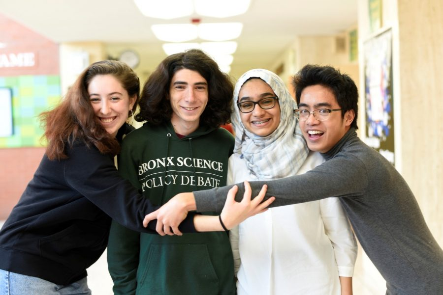 From Left: Ava Vercesi '19, Shmuel Padwa '20, Ayesha Khan '20, and Judge Sanchez '19.