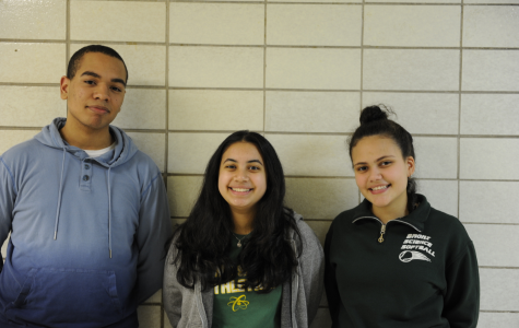 """I think it's been really important in developing a community for Latino/Hispanic students at our school,"" said Elijah Fernandez. (Pictured Left to Right: Elijah Fernandez, Secretary; Gabriela Gaddam and Melanie Tejeda, Co-Presidents)"