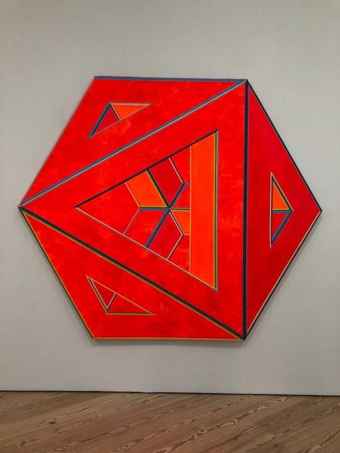Alvin Loving, Septahedron 34 (1970), featured in the Whitney's exhibit 'Spilling Over: Painting Color in the 1960's.'