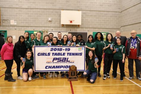The Girls' Table Tennis Team Claims the PSAL Championship!