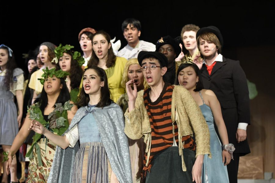 A last hurrah: The cast of 'Into the Woods' performs the finale during the final performance.
