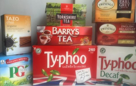 The tea collection of a student.
