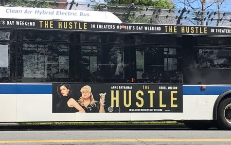 While waiting for the movie's release, fans spot advertisements all over the city.