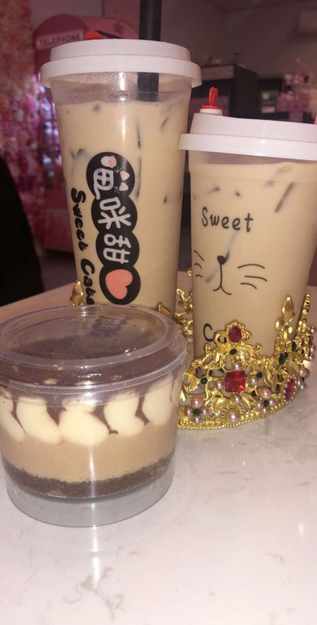 Sweet Cats Cafe's menu contains a wide variety of items, from bubble tea to tiramisu, crepe cakes, takoyaki, and more!