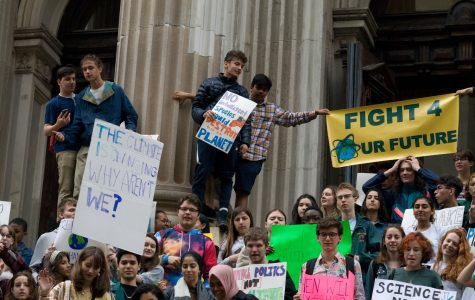 In March 2019, students from across New York City walked out of school in support of the climate.