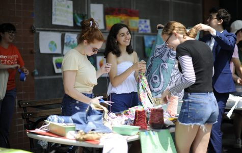 The celebration included a multiplicity of fun arts and crafts projects to promote awareness for the environment.
