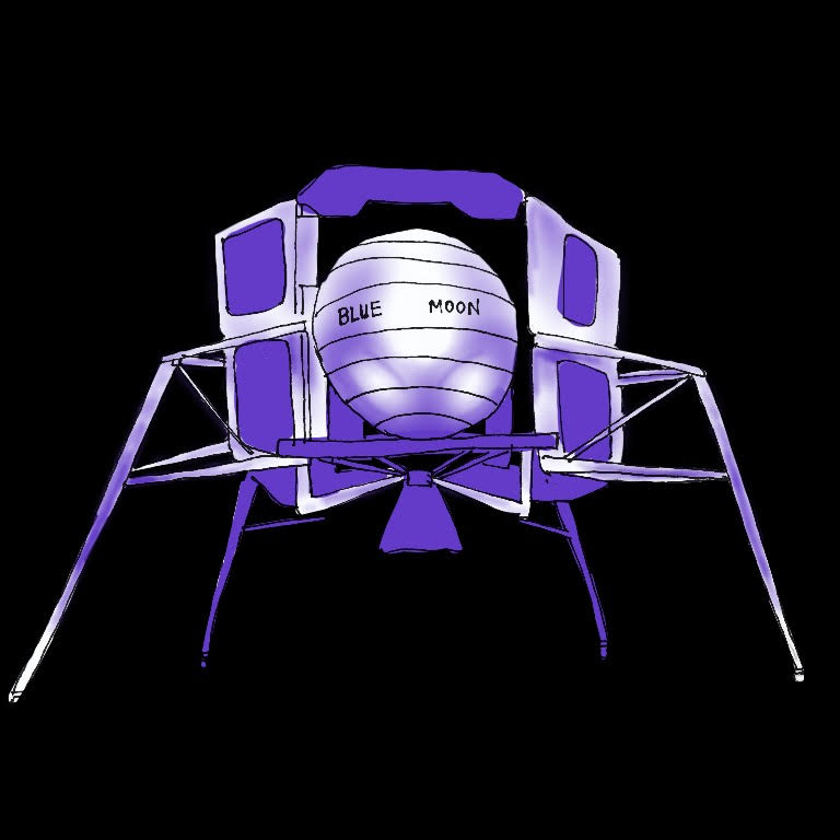 An illustrated rendering of the Moonlander design.