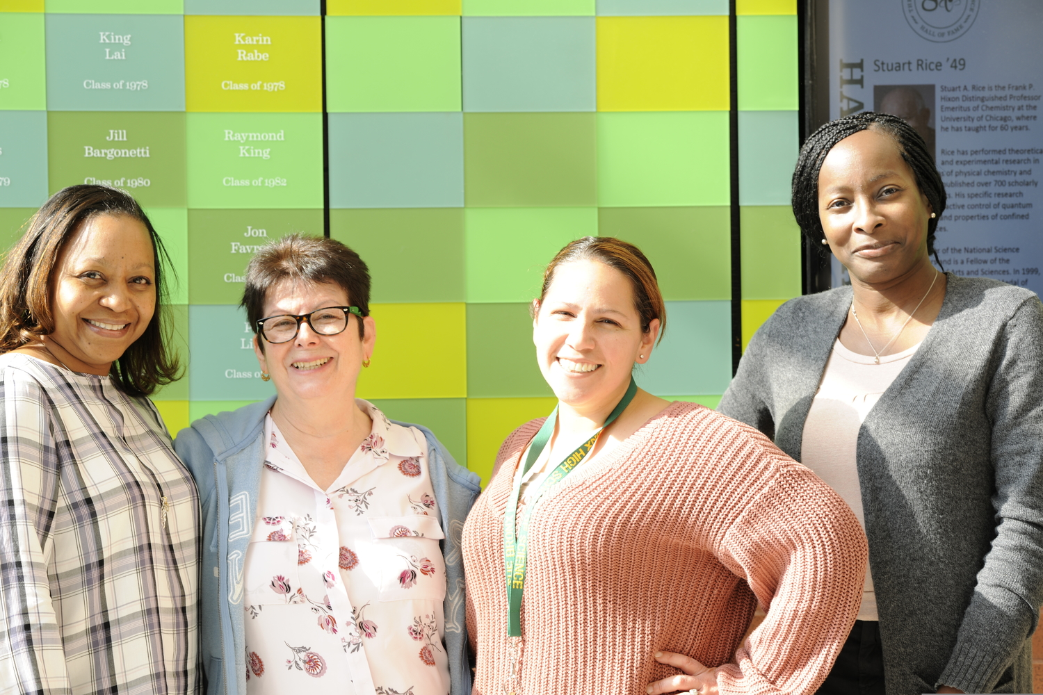 Despite starting at Bronx Science only a few months ago, Ms. Moraydda Rosado, Ms. Barbara Rivera-Berger, Ms. Danielle Heckman, and Ms. Sheree Ferguson are already knowledgeable about the Bronx Science community.