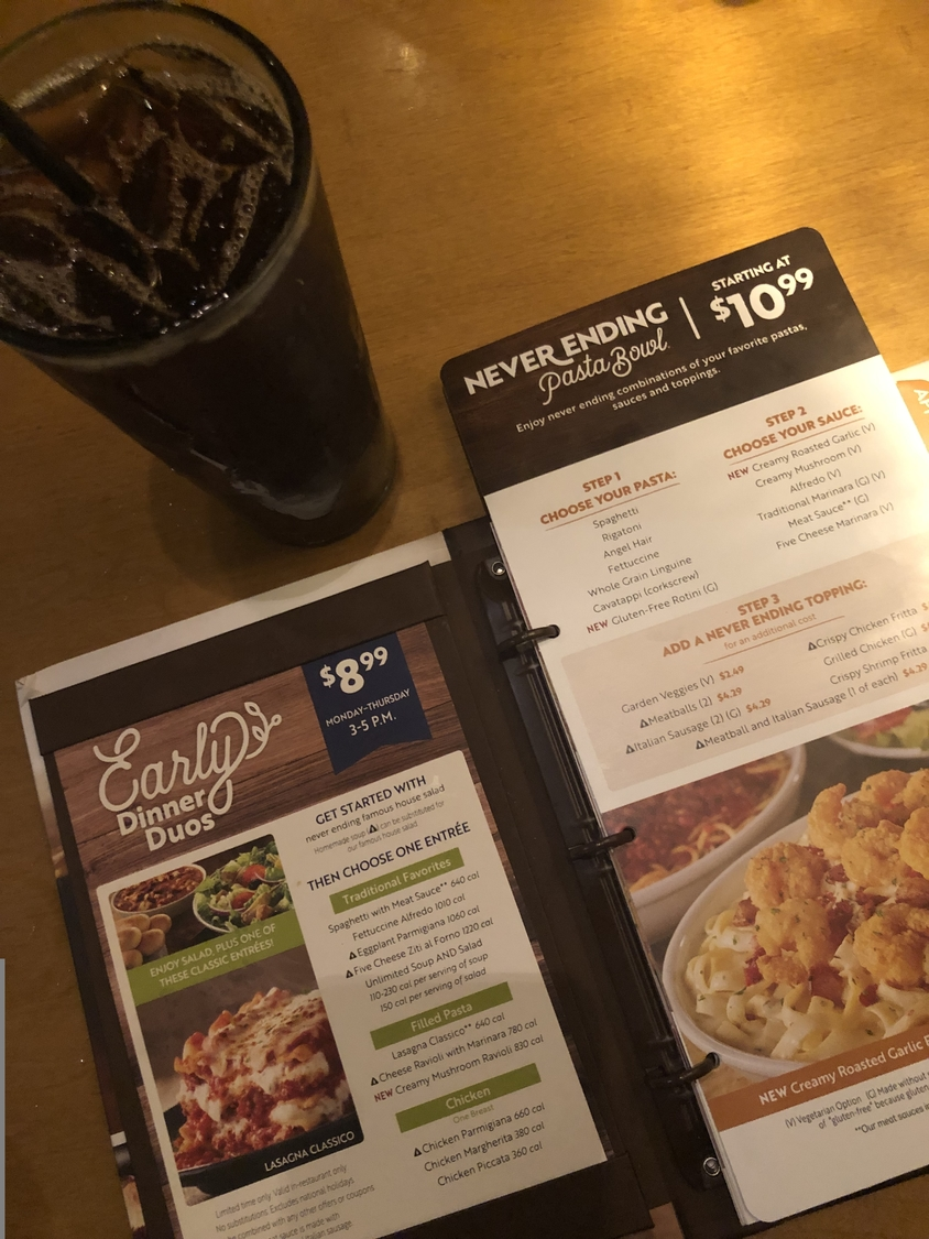 Olive Garden S Never Ending Pasta Pass The Science Survey