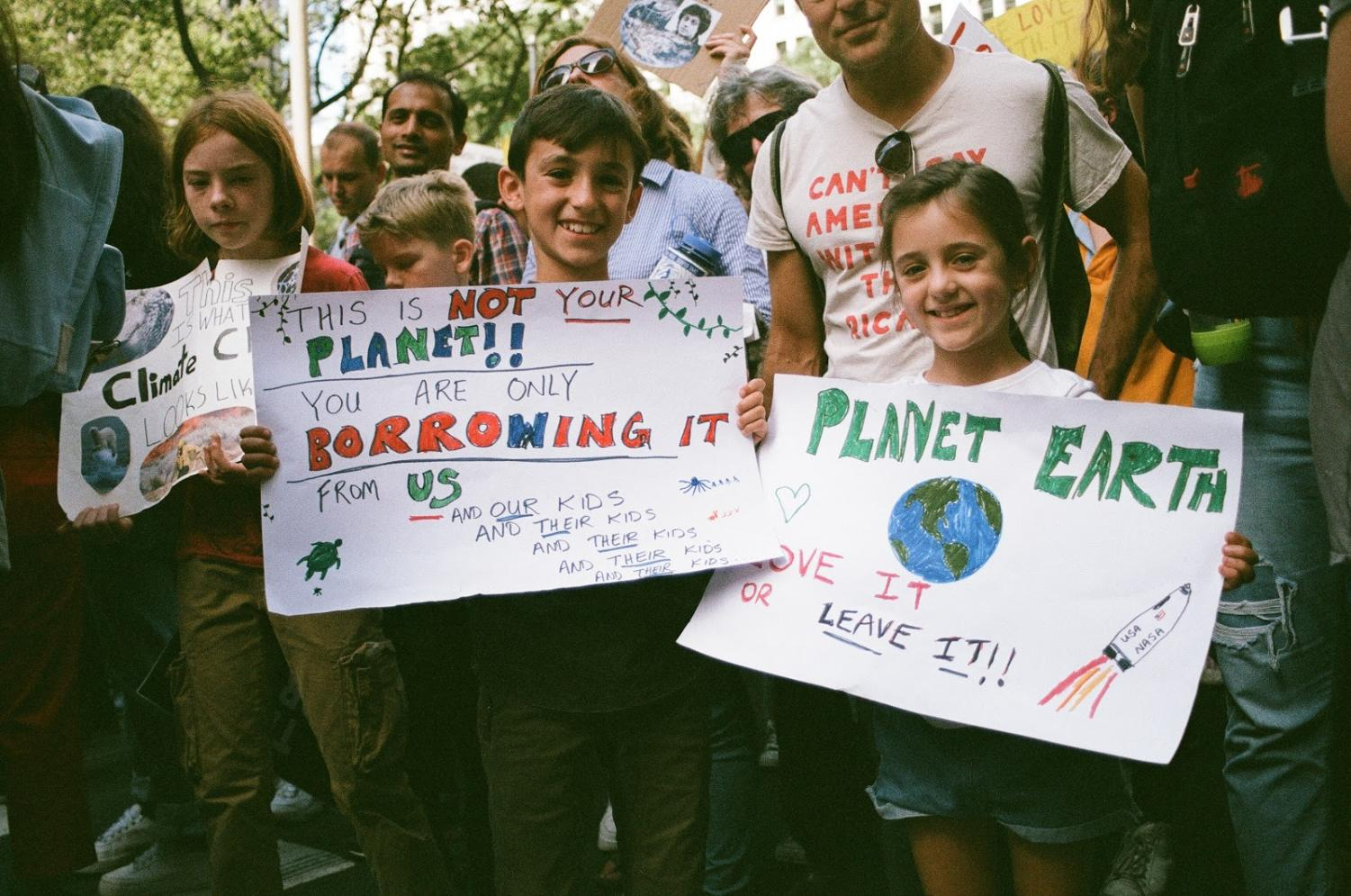 Children skip school with the DOE's encouragements to protest for their futures at the NYC Climate Strike.