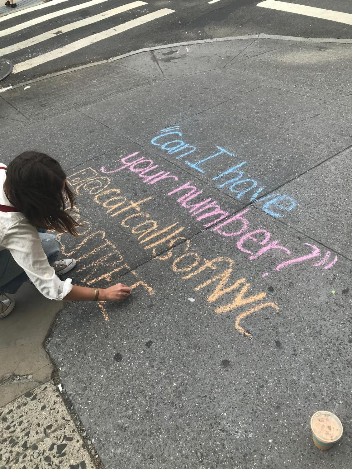"""Sophie Sandberg finishes up the catcall with the words, """"#StopStreetHarassment."""