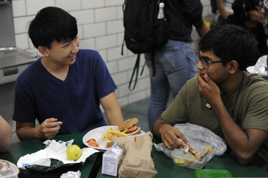 Many students opt to eat school lunch everyday.