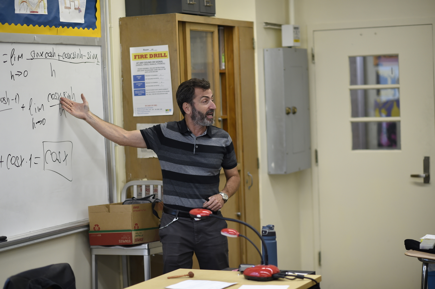 Mr. Fomin teaches his ninth period AP Calculus with passion and with vigor.