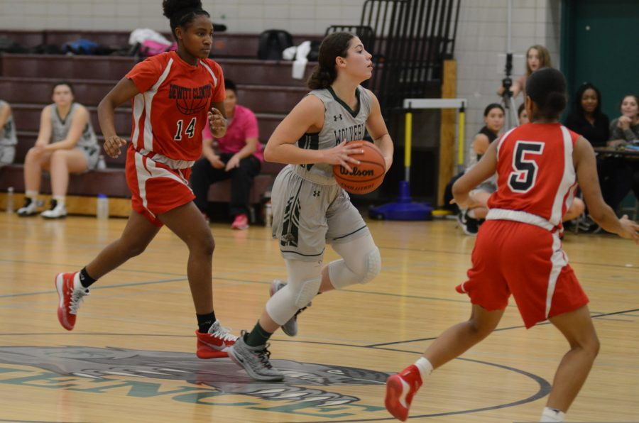 Members of the Girls' Varsity Basketball team during a recent match. Basketball is one of the most popular sports at Bronx Science, both regarding students who play it and students who follow the NBA.