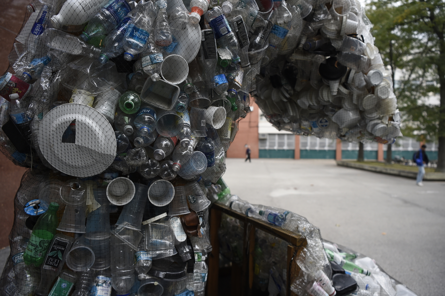 An up-close view of the components of the Blue Wave, various forms of plastic waste gathered over  a twenty-four hour period.