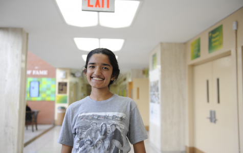 Lavanya Manickam '21 wears a Friends t-shirt to represent the iconic television show.