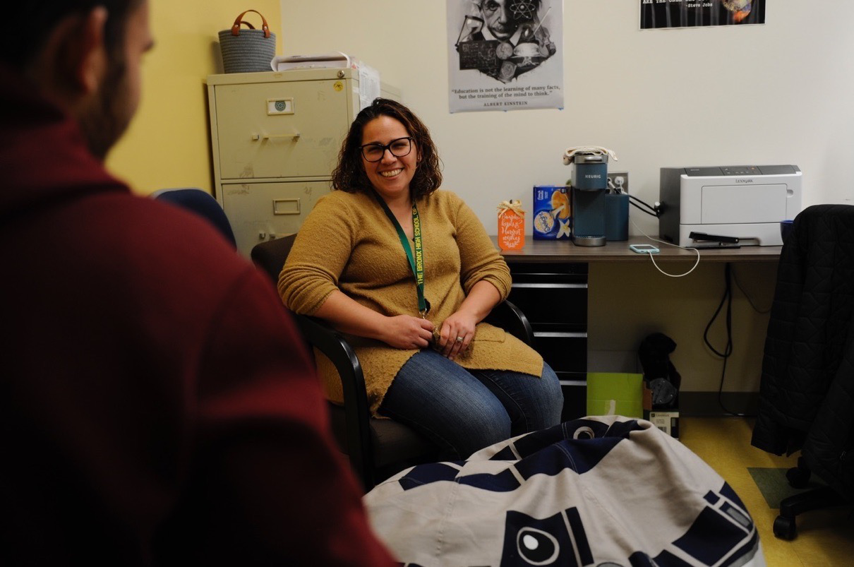 For Ms. Heckman, talking to students one-on-one in a confidential setting is the key to helping them to achieve emotional and mental well-being.