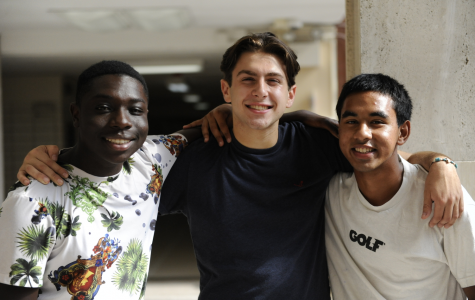 From left to right: Babou Gaye '20, Anthony  Bonavita '20, and Towfiq Rahman '21.