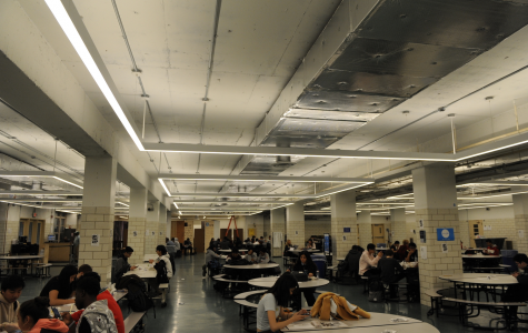 The new cafeteria lighting is now in use!
