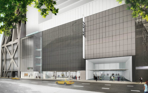 An exterior view of the newly renovated 'The Museum of Modern Art' on 53rd Street in Manhattan.