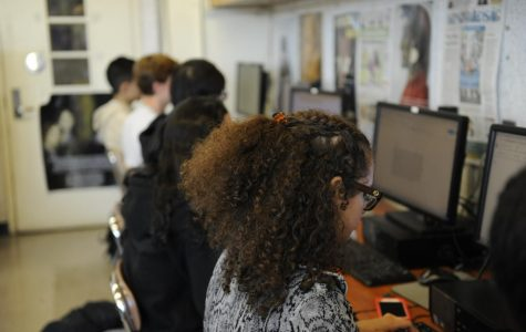 """At Bronx Science we take a more hands-on approach to learning about journalism.  """"I love working with all my fellow journalists to provide the school with exciting and engaging news,"""" said Daniela Castro Garcet '20."""