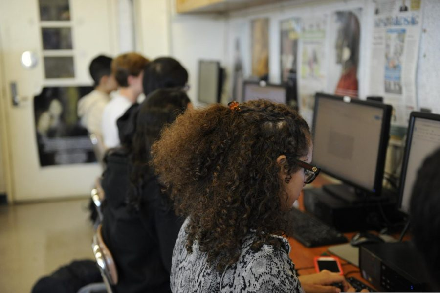 "At Bronx Science we take a more hands-on approach to learning about journalism.  ""I love working with all my fellow journalists to provide the school with exciting and engaging news,"" said Daniela Castro Garcet '20."