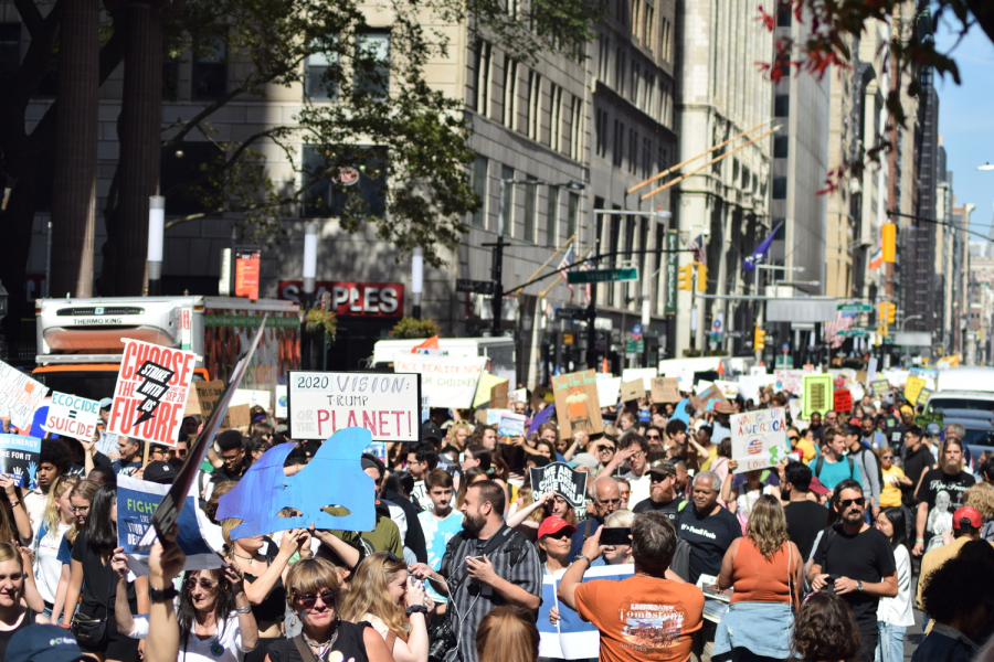 "Some Bronx Science students joined the mass of people marching downtown on September 20th, 2019 in protest of climate change. ""I am proud of our school for stepping up and making a difference!"" said student activist Carolyn Chui '22 who attended the march."