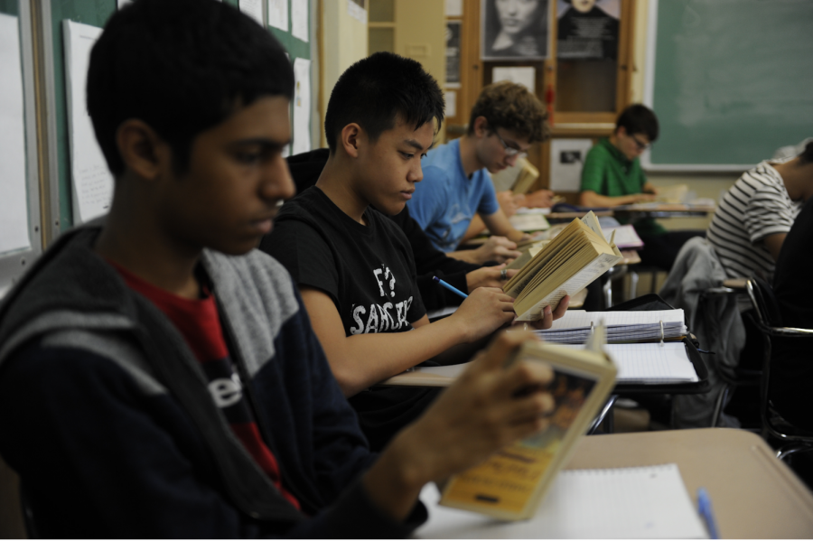 Sophomore students are fine tuning their reading ability by engaging in a deep study of 'A Tale of Two Cities.'