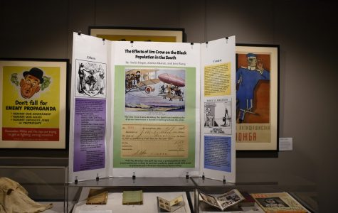 A board that shows the effect of Jim Crow laws on African Americans living in the South.