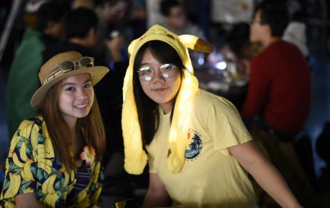 Students show off their sprit with their halloween costumes