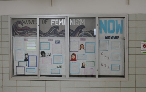 Created by the Bronx Science National Organization for Women (NOW) club, this presentation displayed on the third floor of Bronx Science highlights key aspects of the 1st, 2nd, and 3rd waves of feminism.