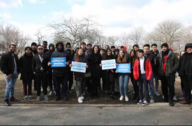 A number of Bronx Science students endorsed Elizabeth Crowley's campaign to be the next Queens borough president.
