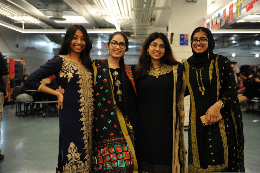 Students represent their culture by wearing traditional dresses during Culture Day.