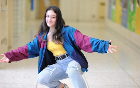 """Josephine Kinlan '22 believes that """"a lot of 90's trends are making comebacks; I've specifically seen low rise jeans, flared pants, and wallet chains become popular recently. I think that certain fashion trends, like plaid, ripped denim, and Jordans will always maintain themselves. They might not be the first option on someone's shelf, but they become more like staples until styling can make them a fashionable element,"""" Kinlan said."""