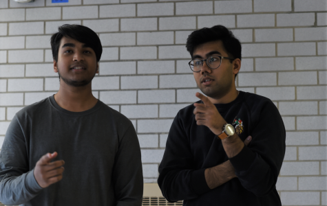 Boy's MIST Captains, Nasheed Adnan Islam '20 and Sanjit Guliani '20, practice for their singing competition.