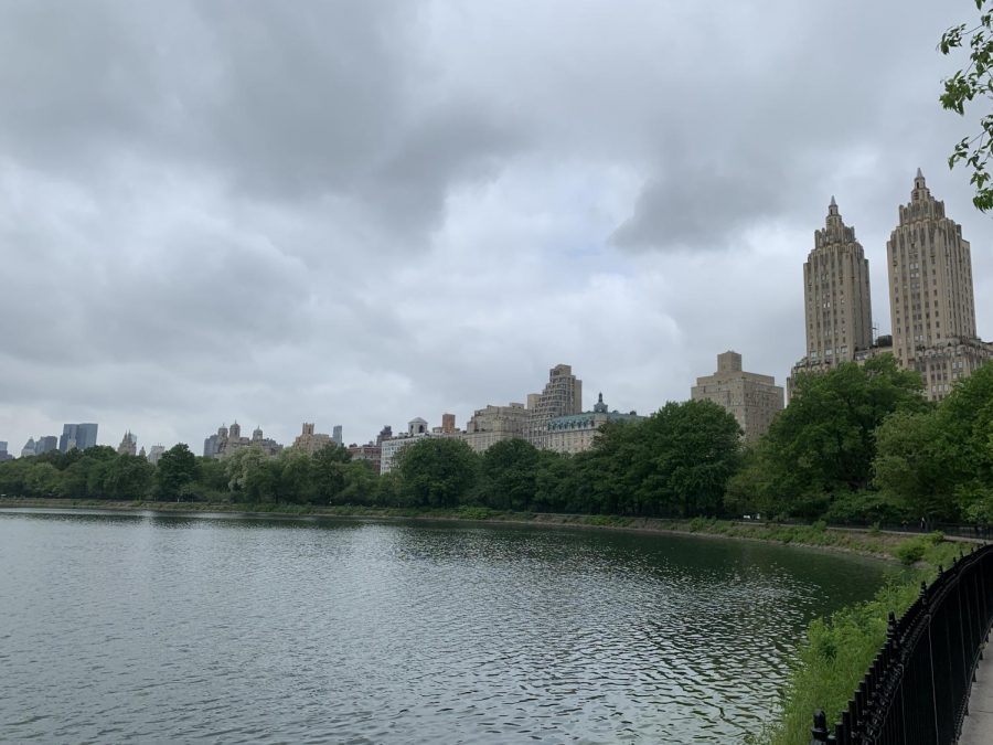 The twin peaks of The San Remo, an Upper West Side Manhattan apartment building, are an iconic view from the reservoir.