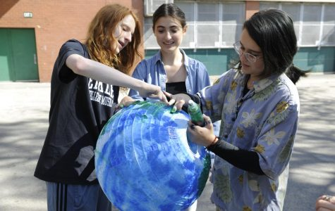 Students preparing for Climate Week