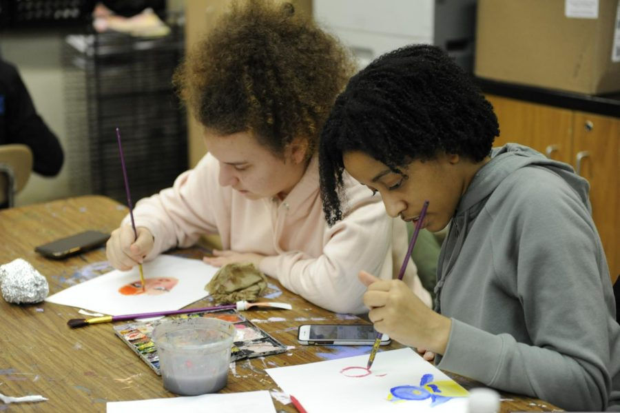 For students who can't commit to the course itself, painting club allows students to paint in a low stress environment.