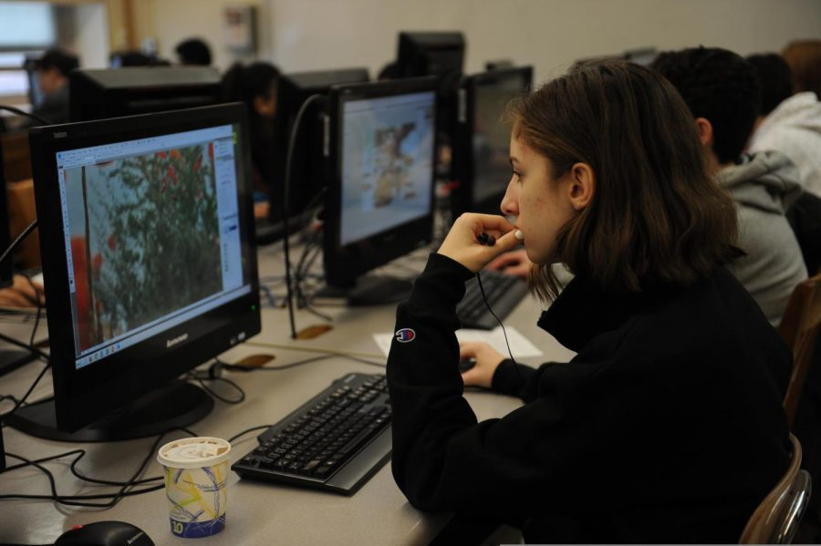 Photography is a popular class, where students learn how to use Adobe Photoshop.