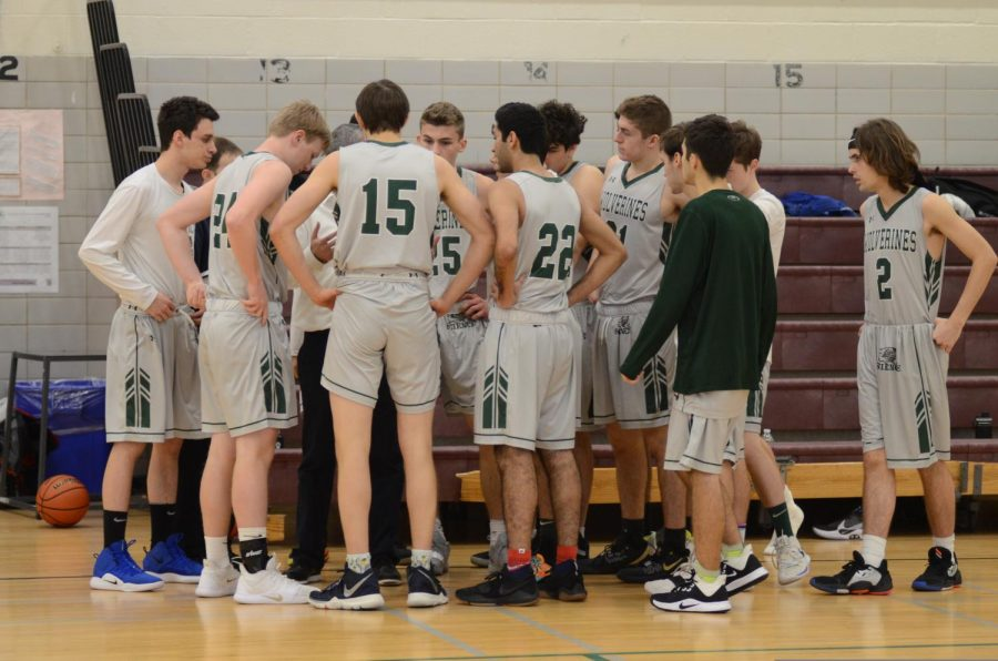 The Basketball Boys' Varsity create a plan to win a game.