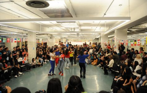 The Bronx Science community comes together to watch a festive performance!