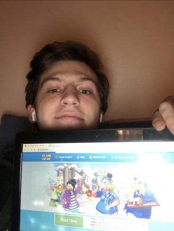 Josh Greenberg '20 often plays 'Club Penguin' after completing his homework.