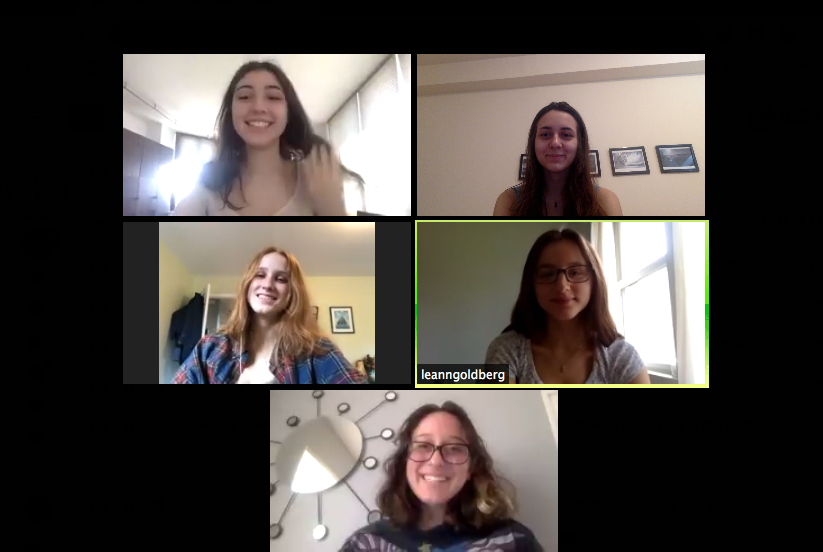 Your EICs are back again with more advice! Pictured in a Zoom meeting, from top right: Celeste Abourjeili '20, Daniela Castro '20, Cameron Leo '20, Leann Goldberg '20, Sofia Mahairas '20 (Not pictured: Kaitlyn Romanger '20)