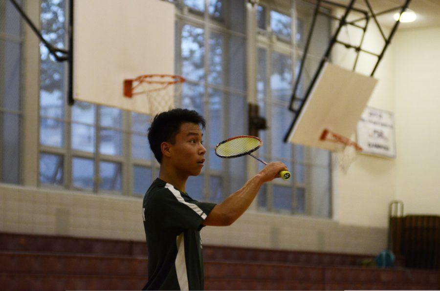 Badminton practice.