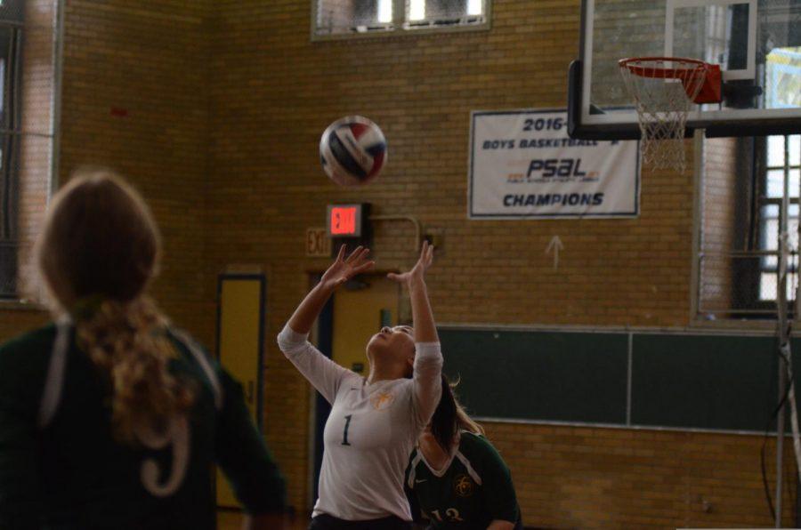 Volleyball spotting.
