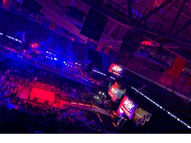 Pictured is a sold-out AEW show before the COVID-19 pandemic.