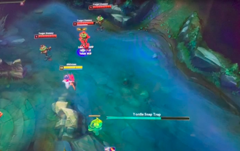 """Here we see a Yordle and a character hitting target dummies during some high quality, high definition 'League of Legends' gameplay. """"It's important to practice LoL; that way you can be better whenever you play with your friends, and you'll have more fun"""" said Jonathan Pang '21."""