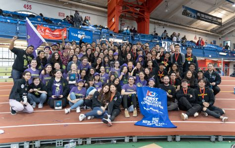 Both teams celebrate their wins at NYC Regional competition.